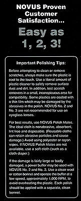 Novus 1,2,3 Plastic Polish System, 3x 2oz, Kunststoff Politur 3