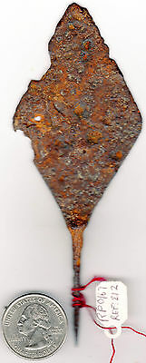 Ancient Iron Arrowhead, Spear Point Very Large Design Rare Find In Soutwest Asia 3