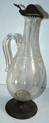 Large Antique Victorian Ornate Sterling Silver Ewer Caraf Wine Decanter Pitcher 10