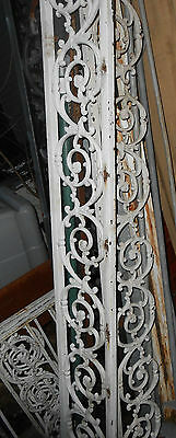 One Vintage Cast Iron Fence/panel Section Swirl 7 3/4 X 18 Salvaged Steam Punk 5