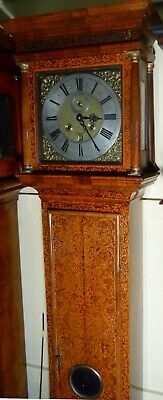 "Antique Walnut Marquetry London  ""Month Duration "" Longcase / Grandfather Clock 8"