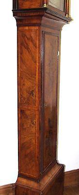 ~ RARE MONTH GOING Antique Walnut  Longcase Grandfather Clock Etherington LONDON 7