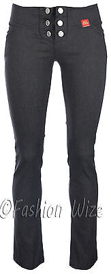 Girls Black Grey Navy School Trousers Sizes 4-16 Miss Sexies Miss Chief Bootcut 3