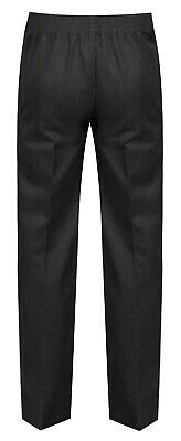 Age 1-13 Boys Pull Up School Trousers Black Grey Navy Teflon Elasticated Back 3