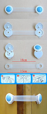 Adhesive Baby Toddler Drawer Cabinet Cupboard Door Fridge Safety Locks 5