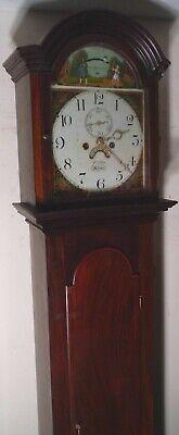 "Antique Mahogany ""  Automation Tennis Ball ""  Grandfather / Longcase Clock 5"