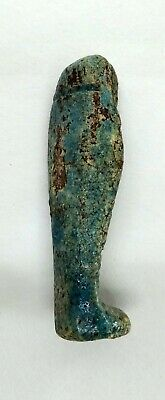 Ushabti (Shabti) Ancient Egyptian Statue Figure Inscribed Faience 2060 - 1500 BC 2