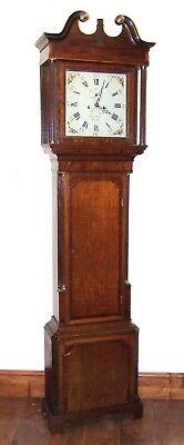 ~ Antique Oak & Mahogany Grandfather Longcase Clock BENJAMIN PEERS CHESTER 2