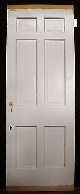 "2 availble 30""x84""x175"" Antique Vintage Interior Solid Wood Wooden Door 6 Panels 5"