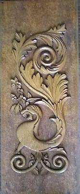 """41""""Ornate Antique Carved Architectural Gargoyle Gothic Eastlake Wall hanging 10"""