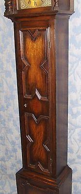 Antique Oak Grandmother / Miniature Grandfather Clock : Weight Driven Movement 7