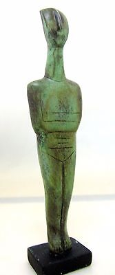 Ancient Greek Bronze Museum Statue Replica Of A Cycladic Idol Figure Collectable 2