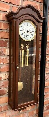 GERMAN Hermle Laterndluhr Vienna Wall Clock 3 Subsidiary Dials DAY DATE MONTH 2