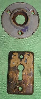 Antique Eastlake Brass Door Knobs Orbin Hardware Locksets Victorian BIN Save $$ 10