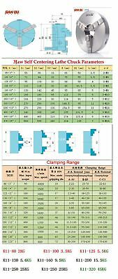 K11 Lathe Chuck 3-jaw Self-Centering 80 100 125 130 160 200mm Metal Mill Lathe 8