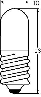 10x Glühbirne E10 Röhrenlampe Skalenlampe 6,3V / 0,32A 2