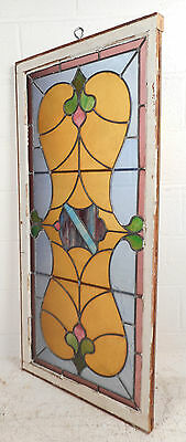 Vintage Stained Glass Window Panel (3089)NJ 2