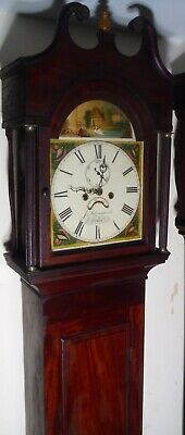 "Antique ""  Automation  Swan  ""  Exeter  Grandfather / Longcase Clock 3"
