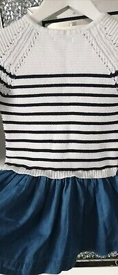 Vertbaudet Girls Thick Dress Age 5 Years Excellent Condition 6