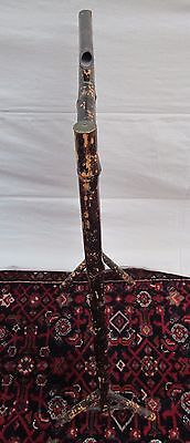 Beautiful Victorian Bamboo Antique Firescreen With Floral Glass Bead Work 6