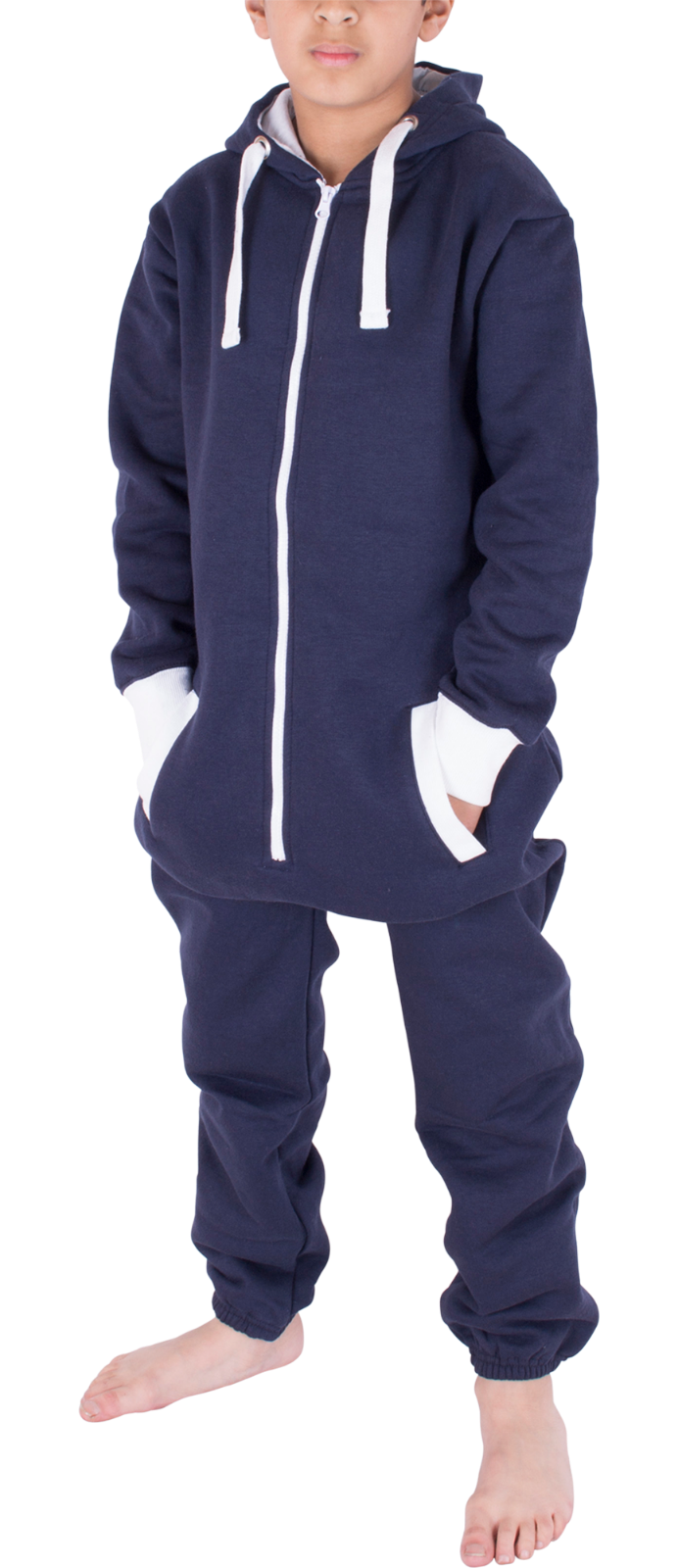Kids Boys Girls Plain Hooded 1Onesie All in one Jumpsuit Playsuit Sizes 7-13 YRS 9