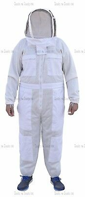 Pro Three Layers Mesh Ultra Beekeeping Suit Bee Suit Ventilated Cool Air Xxl