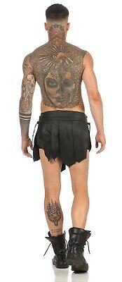 XS-XXXL* Gladiator Kilt Skirt Echt Leder Legionär Rock Schwarz Mittelalter  NEU 6