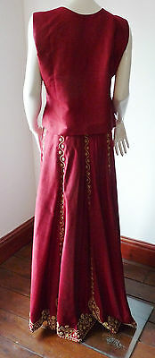 Asian Wedding Red Lengha & Dupatta     (M)  Uk 8/10  Ret £650    Bnwt 2