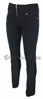 Ladies Girls Smart Trousers Casual Sizes 6 8 10 12 14 Skinny Leg Black Grey S8 7