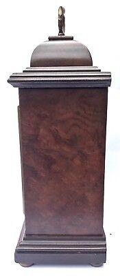 ELLIOTT LONDON Walnut & Burr Walnut Bracket Mantel Clock MAPPIN & WEBB LTD 2