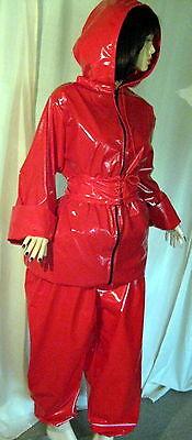 Lackanzug, Hosenanzug,Saunaanzug, Zweiteiliger Anzug,Vinylsuit,Saunasuit 2