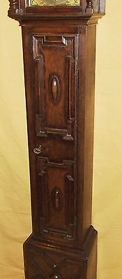 Antique 8 Day Miniature Grandfather / Grandmother Clock : Weight Driven Movement 6