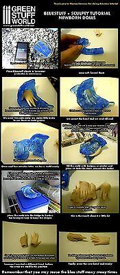 Blue Stuff 8Bars - Make reusables instant molds - Warhammer 40K OOAK Doll Reborn 5