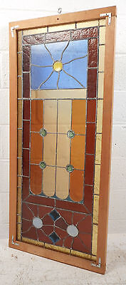 Vintage Stained Glass Window Panel (3068)NJ