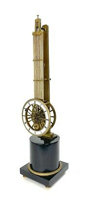 Mystery Pinwheel Upside Down Skeleton Swinging Clock with Marble Base 2