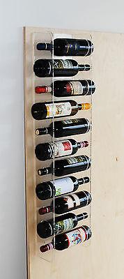 Portabottiglie Vino Da Parete Espositore In Plexiglass Design
