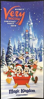NEW Mickey's Very Merry Christmas Party MVMCP 2019 Park Map + Bonus Map!! WDW 2