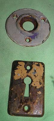 Antique Eastlake Brass Door Knobs Orbin Hardware Locksets Victorian BIN Save $$ 8