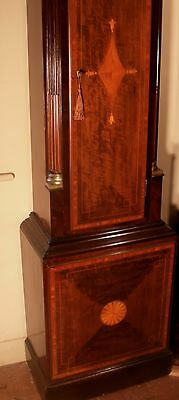 """Antique Mahogany Brass Dial """"Month Duration """" Longcase / Grandfather Clock 4"""