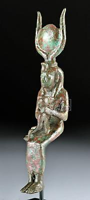 Egyptian Late Dynastic Bronze Isis & Infant Horus Lot 6