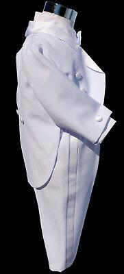FRAC BIANCO ABITO da BATTESIMO vestito cerimonia paggetto taglia 4-6 MESI cd 844 2