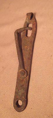 large antique 18th century hand wrought iron door swing hook lock hardware 6