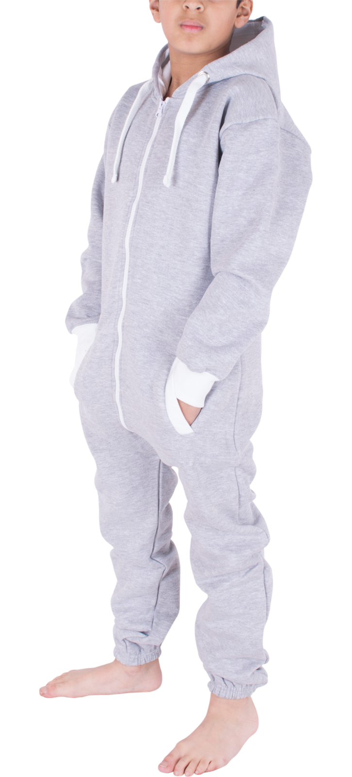 Kids Boys Girls Plain Hooded 1Onesie All in one Jumpsuit Playsuit Sizes 7-13 YRS 6