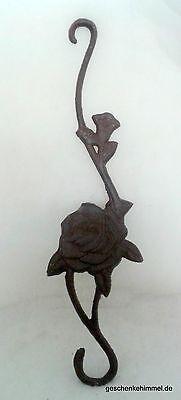 Wandhaken Motiv 1 Rose Garderoben Eisen Vintage Ästhetik Handtuch Halter Küche 3