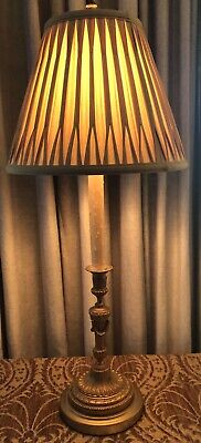 Antique Gilt Bronze Neoclassical French Candlestick Lamp 10