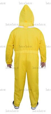Yellow Three Layers Mesh Ultra Beekeeping Suit Bee Ventilated Cool Air Large