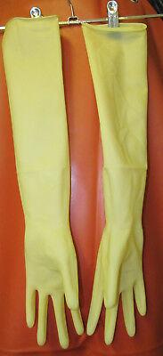 3 Paar,Elbow Length Procedure Gloves, Latexhandschuhe,Gummihandschuhe,steril,S 4