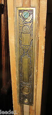 Turn of Century Pair of Pine Pocket Doors 36 x 83 Each Bronze Hardware Salvage