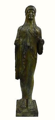 Caryatid Caryatis Kore bronze Ancient Greek aged Great statue sculpture artifact 2