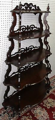 Antique American Carved Walnut Five Tier Waterfall Entry Etagere Hand Circa 1800 3